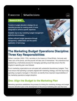 marketing budget operations discipline