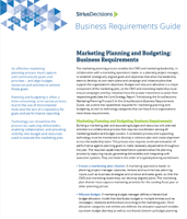 marketing planning and budget business requirements